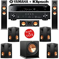 Klipsch RP-250F 7.1 Reference Premiere Home Theater System with Yamaha RX-V681BL 7.2-Ch Network A/V Receiver