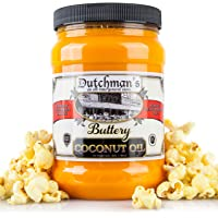 Dutchman's Popcorn Coconut Oil Butter Flavored Oil, 30oz Jar - Colored with Natural Beta Carotene, Makes Theater Style…