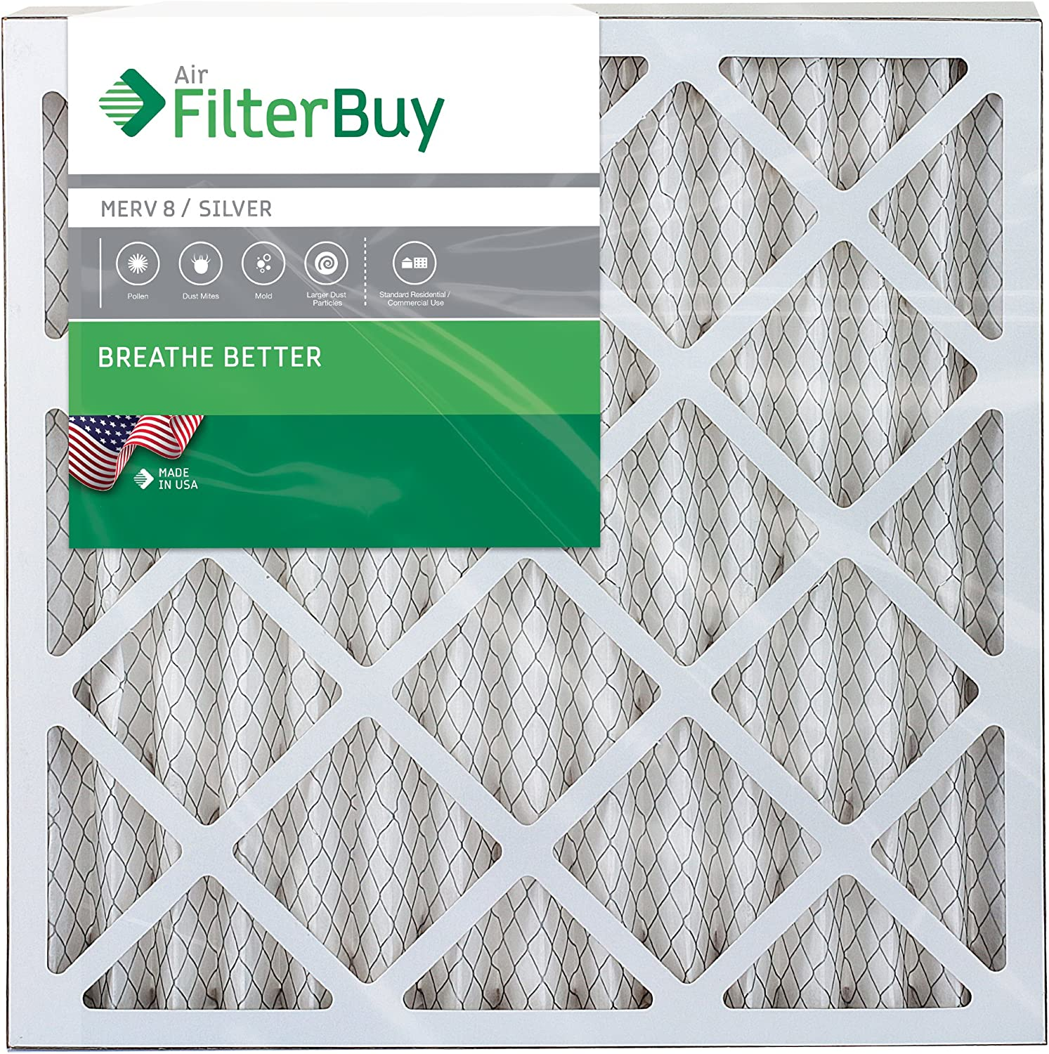 12-pack 16x30x2 MERV 10 Pleated Home A//C Furnace Air Filter
