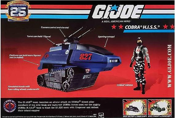 Driver Hiss FOIL GI JOE COBRA 25th Anniversary Comme neuf on Card Cobra H.I.S.S