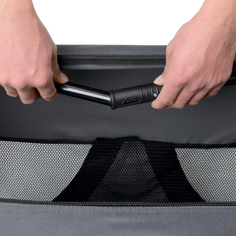 pro.tec box de transport pour chien taille L gris - pliable