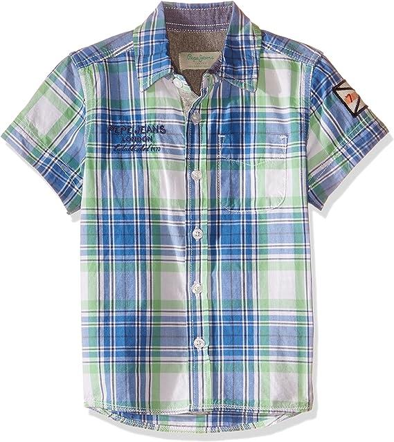 Pepe Jeans - Barber, Camisa De Manga Corta, Niño, Color: Verde, Talla: 7: Amazon.es: Ropa y accesorios