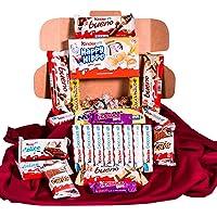 Caja regalo de bombones y chocolates - Kinder Bueno, Kinder Delice, Lindt,Milkibar, Kinder Cards, Lacasitos, Happy Hippo…