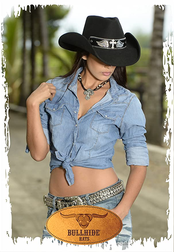 Amazon.com  Bullhide Hats 0711Bl Run A Muck Collection State of Grace Black  Cowboy Hat  Clothing 926a54ac8e2c