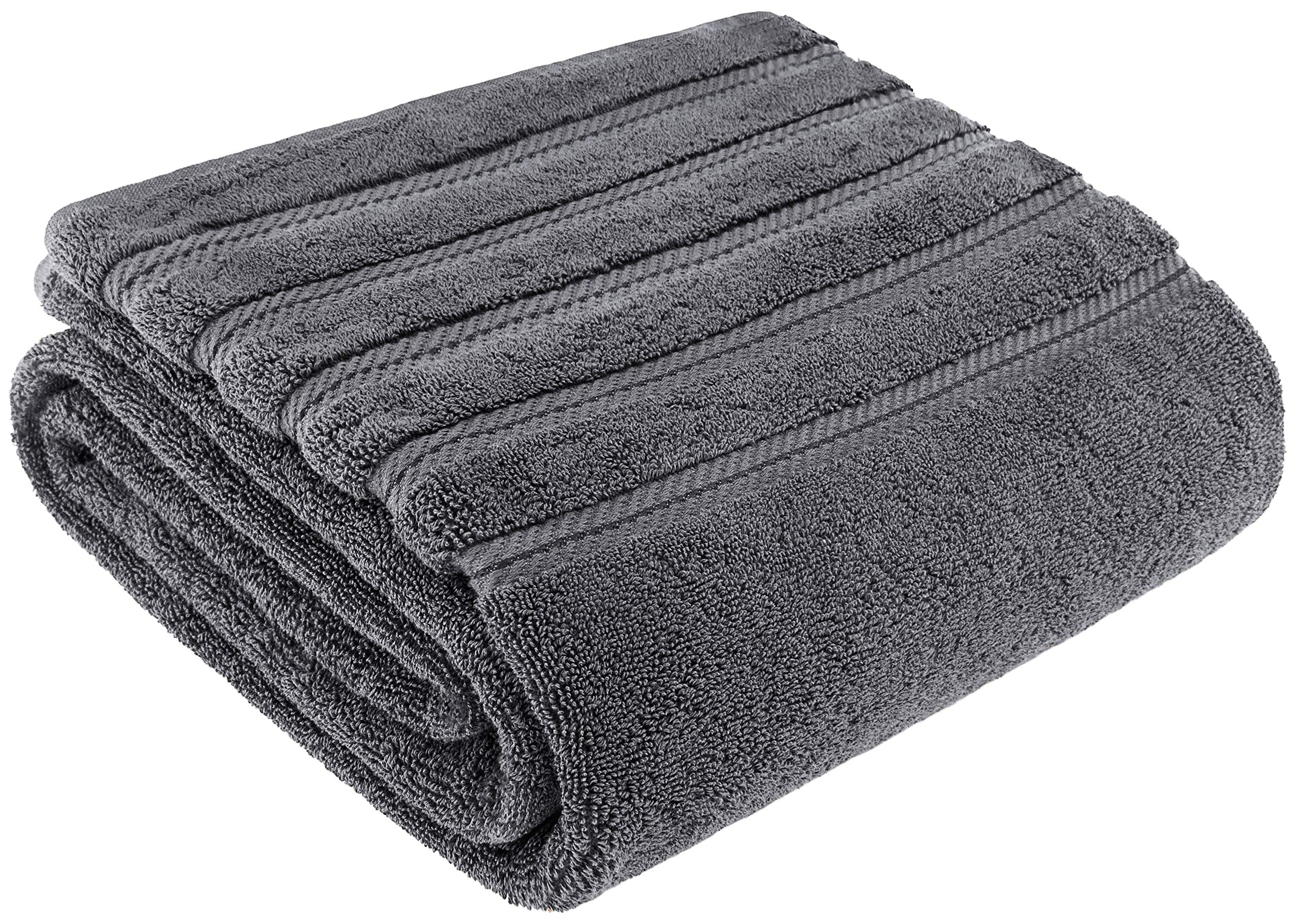 Premium, Luxury Hotel & Spa Quality, 35x70 Extra Large Jumbo Size Bath Towel, Bath Sheet Cotton for Maximum Softness and Absorbency by American Soft Linen, [Worth $34.95] (Grey)