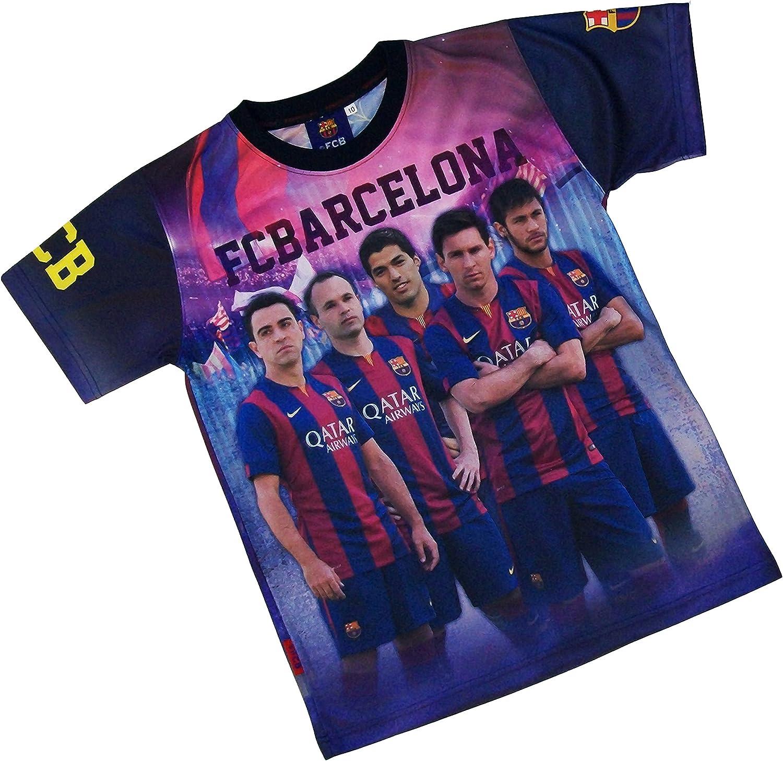 Conjunto de camiseta y pantalón corto del Barça NEYMAR MESSI SUAREZ XAVI INIESTA FC BARCELONE-Chaqueta oficial para niño Azul azul Talla:10 años: Amazon.es: Ropa y accesorios