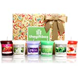 Luxurious Scented Candle Gift Set by The Gift Box. Comprises 8 Different Beautifully Scented Candles and 3 Metallic Glass Candle Holders (Sungaze)