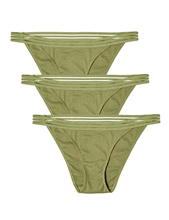 f6de64061 Amazon.com  Amazon Brand - Iris   Lilly Women s Cotton Rib Brief Underwear