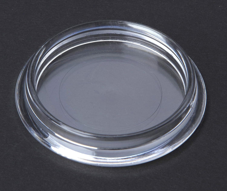 f/ür glatte B/öden im Innen 4 St/ück M/öbeluntersetzer und Aussenbereich und f/ür Teppich geeignet M/öbelschutz Bodenschutz Kunststoff transparent Innendurchmesser 50mm
