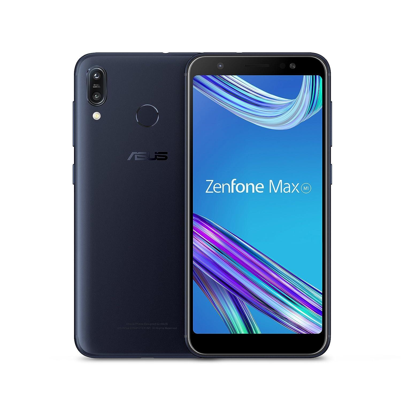 ASUS ZenFone Max M1(ZB555KL-S425-2G16G-BK) - 5.5インチHD + 2GB RAM 16GBストレージLTEロック解除デュアルSIM携帯電話 - 米国保証 - Deepsea Black   B07CM54RY8
