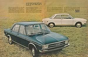 "Amazon.com : 1970 AUDI 100 LS BERLINE ""Si on vous demande..."" - HUGE VINTAGE COLOR AD - FRENCH ..."