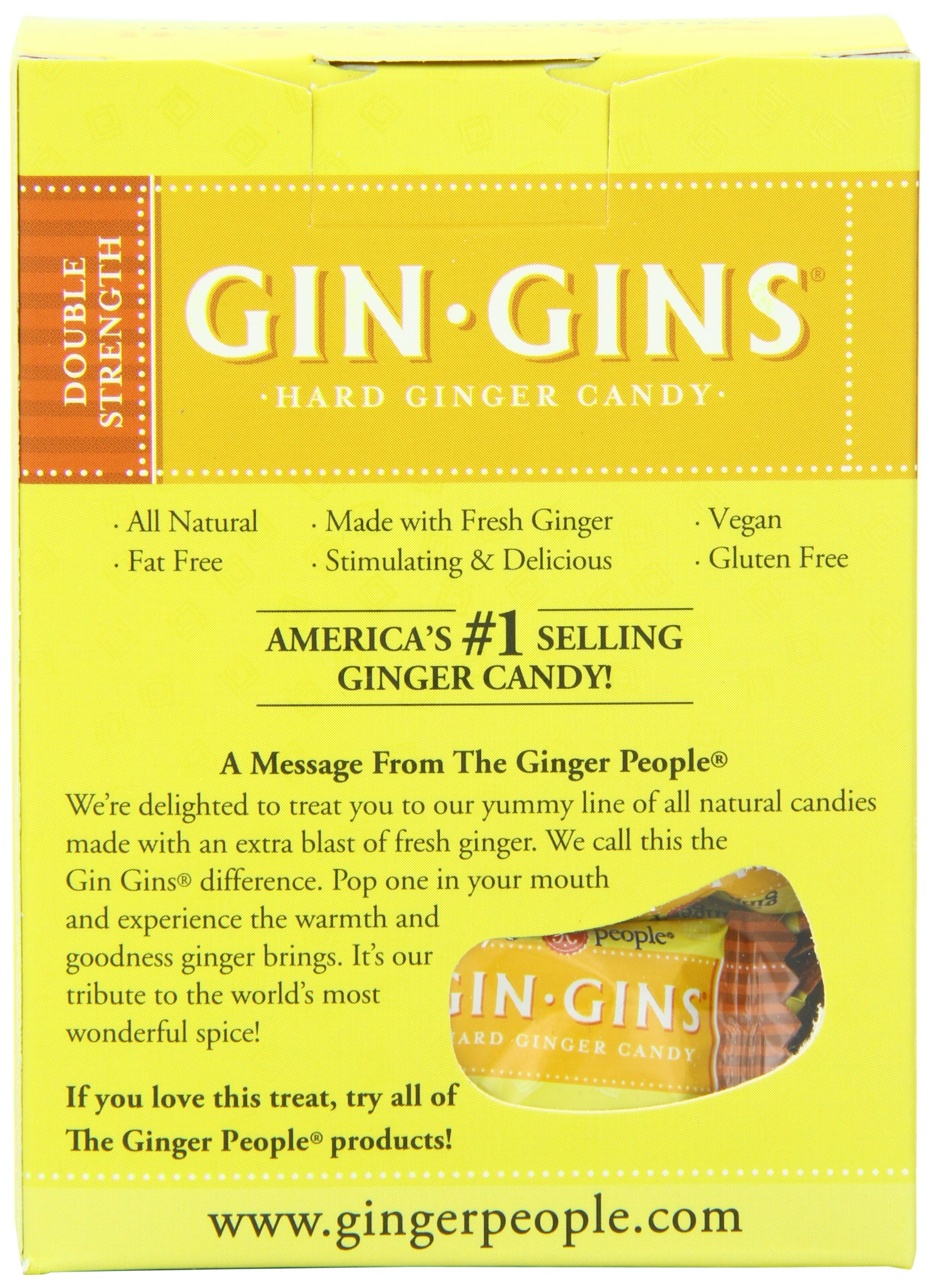 The Ginger People Gin Gins Double Strength Hard Candy, 4.5 Oz Boxes (Pack Of 12) by The Ginger People