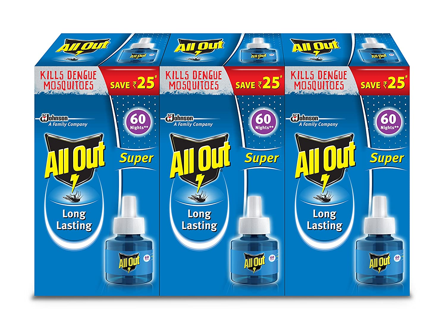 All Out Refill (135 ml, Clear, 3-Pieces)