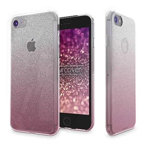 Urcover® Funda Brillante iPhone 8 Carcasa en Silicona Suave ...
