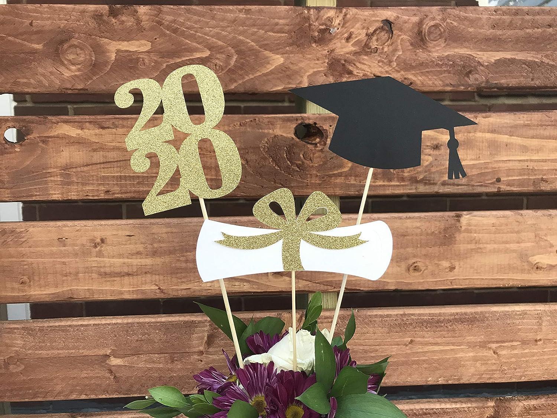 Graduation Party 2020.Graduation Party Decorations 2020 Graduation Centerpiece Sticks Grad Cap Diploma Class Of 2020 Graduation Decorations Prom 2020