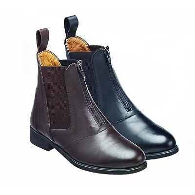 Harry Hall Hartford Boots d'équitation en cuir avec fermeture avant zippée