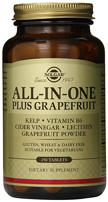 Solgar All-in-One Plus Grapefruit Tablets, 250 Count