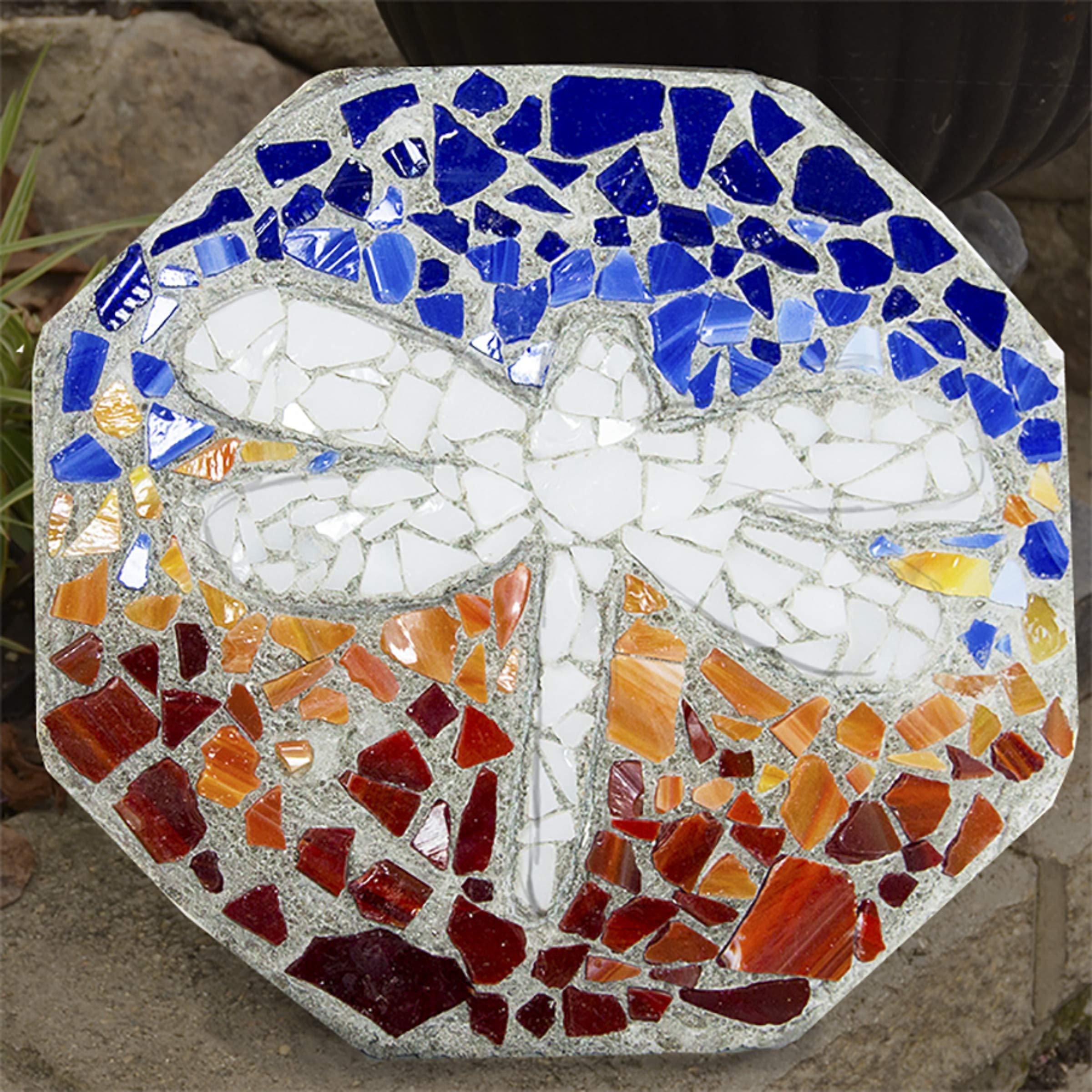 Milestones Mosaic Stepping Stone Kit, Makes a 12-Inch Stone by Milestones