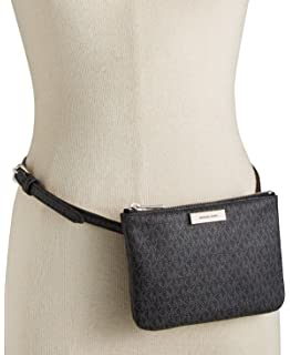 8907507eeed7 Amazon.com   Michael Kors Brown MK Signature Fanny Pack Belt Bag ...