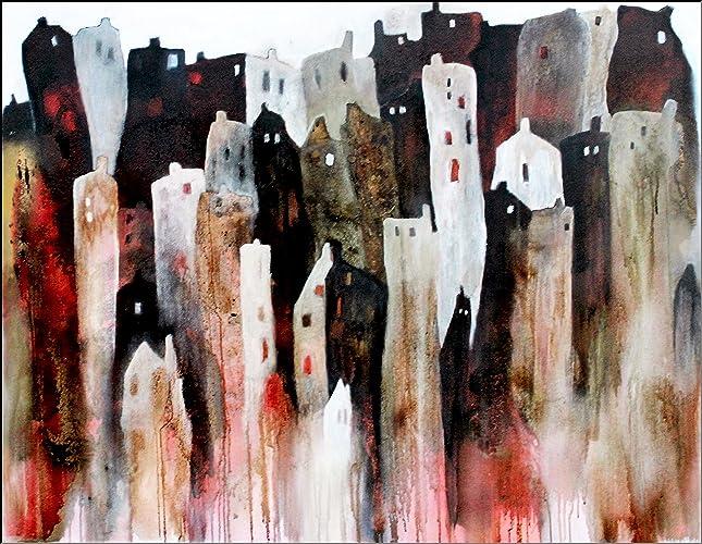 Moderne Kunst Bilder Auf Leinwand ~ Acryl gemälde auf leinwand abstrakt cm nachts wenn alle
