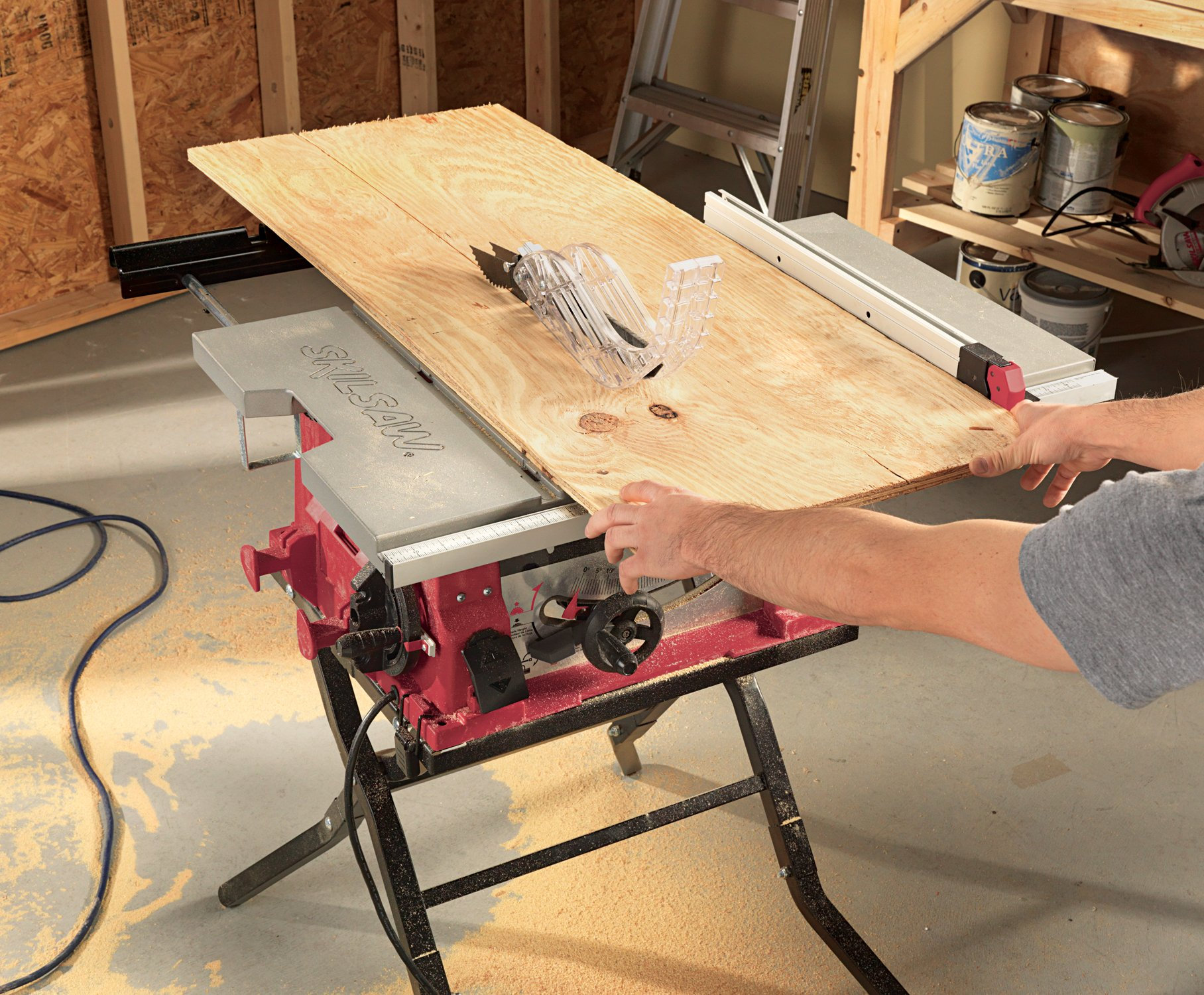 Skil 3410 02 10 inch table saw with folding stand ebay for 10 inch skil table saw