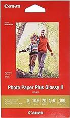 Canon Plus Glossy II PP-301 De alto brillo Blanco - Papel fotográfico (De alto brillo, 265 g/m², Blanco, Laser/Inyección de tinta, 150 mm, 100 mm)
