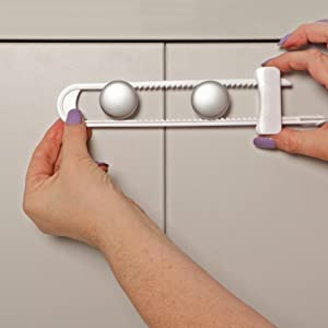 how to baby proof cabinet by slide locks
