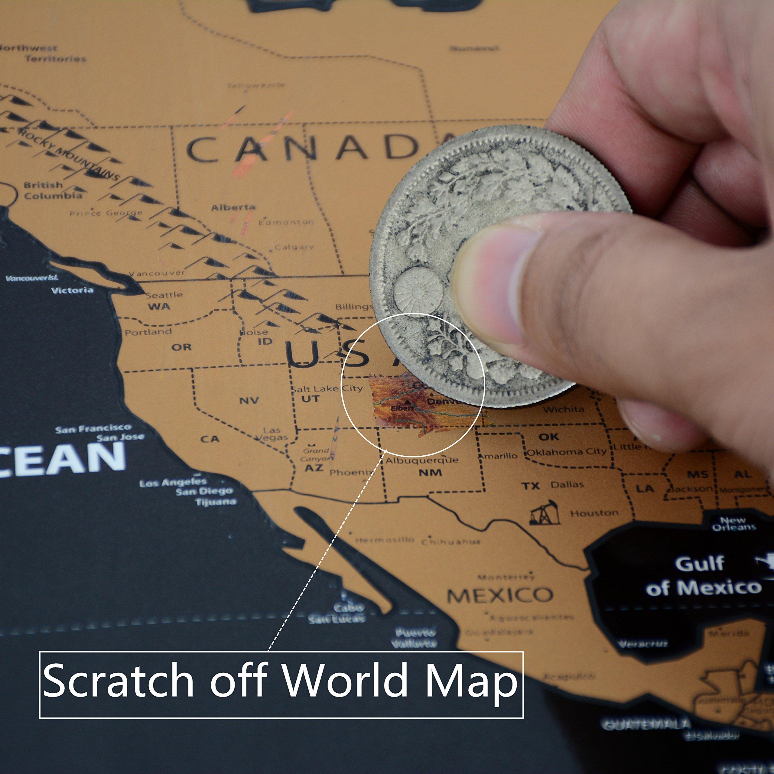325 x 234 scratch off the world map cnsunway lighting travel map poster black scratch off the world map