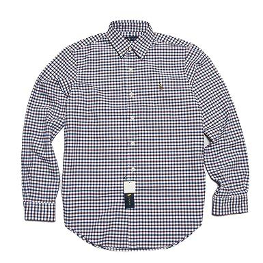 c1fe9fa35ce9d (ポロ ラルフローレン)POLO RALPH LAUREN 長袖シャツ Tattersall Cotton Oxford Shirt ワイン