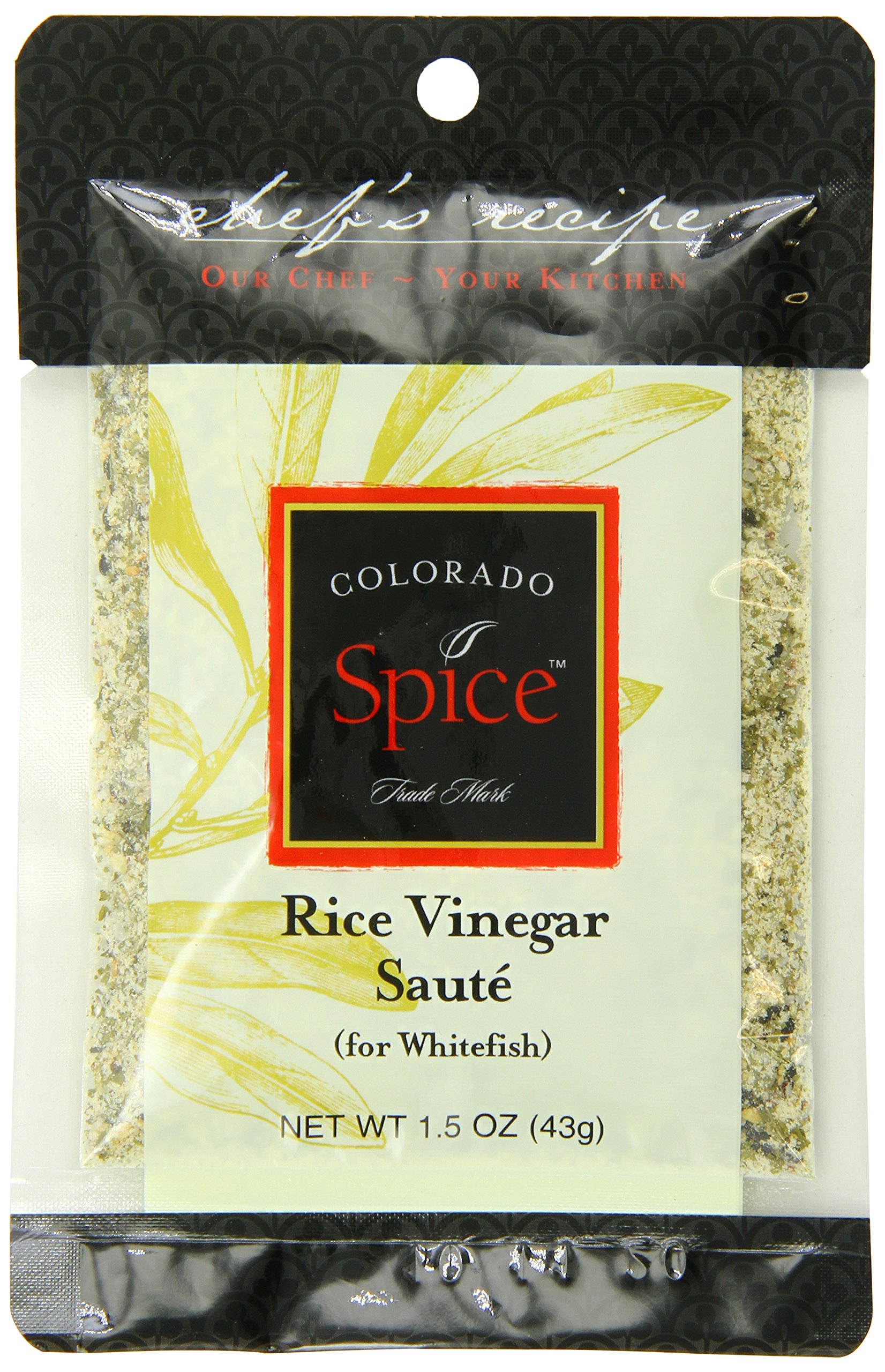 Colorado Spice Company, Seafood Spice, Rice Vinegar Saute for Whitefish, 1.5-Ounce Packet  (Pack of 12)