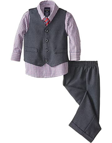 f9771a83dc362 Nautica Baby Boys 4-Piece Set with Dress Shirt, Vest, Pants, and