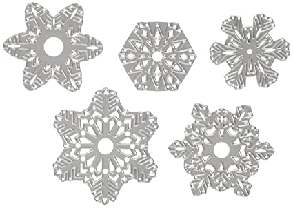 Sizzix 660059 5 Fustelle Fiocchi Di Neve Di Carta Amazonit