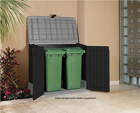 Tepro Keter 17197662 Plastic Storage Box Woodland Grey / Black ...