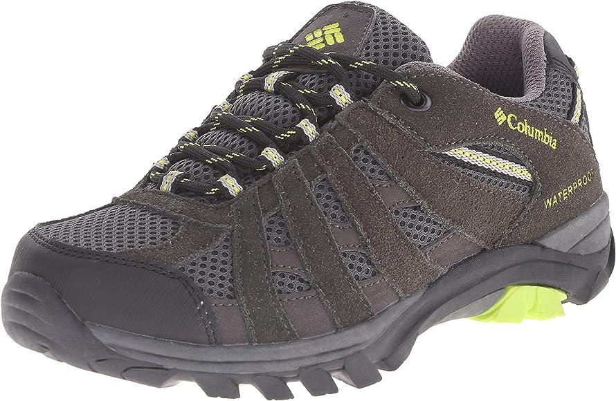 Columbia Youth Redmond Explore Waterproof - Zapatillas de trekking y senderismo, de piel, para niños/niñas, color gris (Shale 051), 36 EU: Amazon.es: Zapatos y complementos