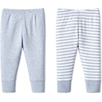 Lamaze Baby Boys' Super Combed Natural Cotton Pull on Jogger Pants, 2 Pack