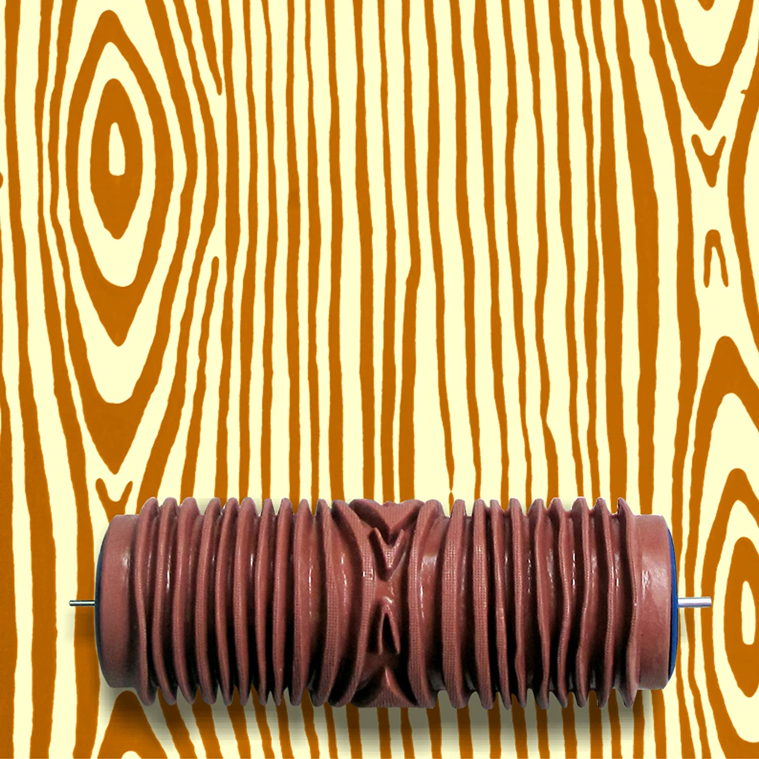 Patterned Paint Rollers. Beautiful Wood Grain Patterned Paint Roller ...