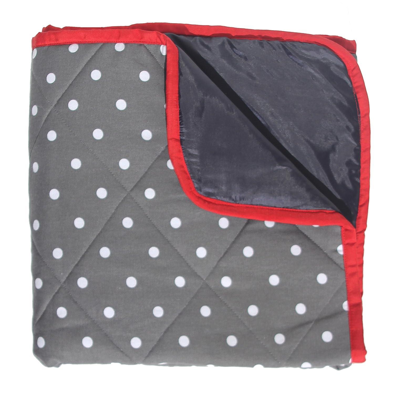 Alfombrilla de juegos para bebé con respaldo impermeable, color gris (acolchado) Just a Joy