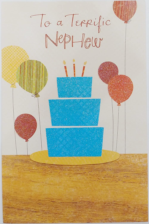 Amazon To A Terrific Nephew Happy Birthday Greeting Card
