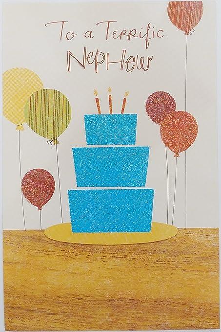 Amazon Com To A Terrific Nephew Happy Birthday Greeting Card