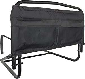 """Stander 30"""" Safety Bed Rail, Adjustable Bed Rail for Elderly Adults, Bed Safety Rail with Padded Organizer Pouch"""