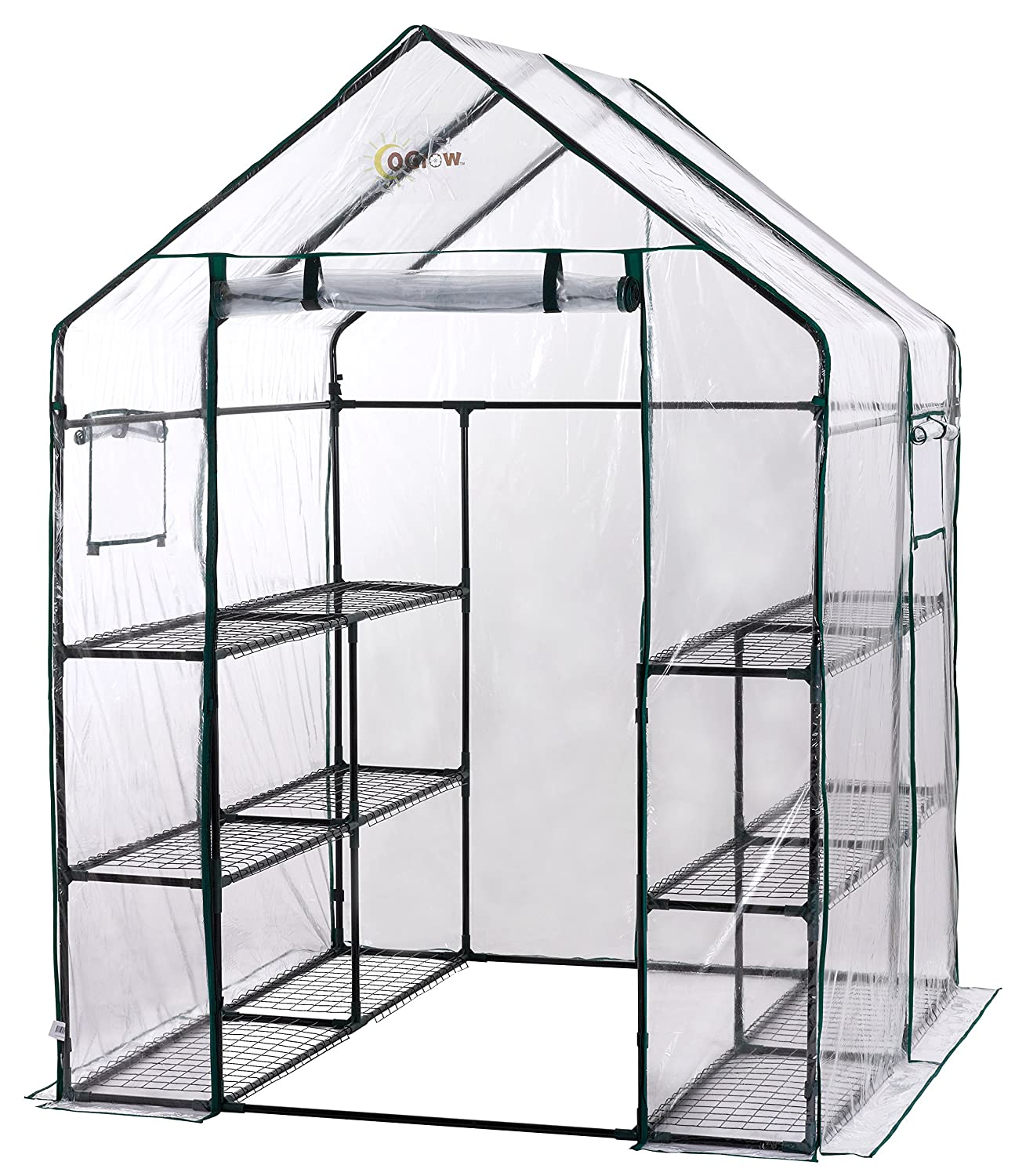 amazon com ogrow deluxe walk in 6 tier 12 shelf portable