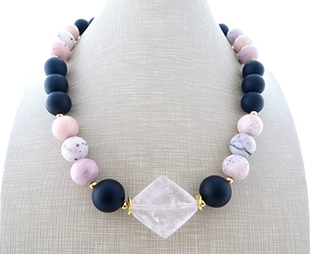 29592e6b4090 Collar de cuarzo rosa