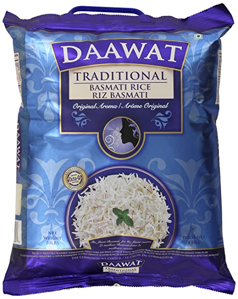 amazon com daawat traditional basmati rice 10 pound basmati