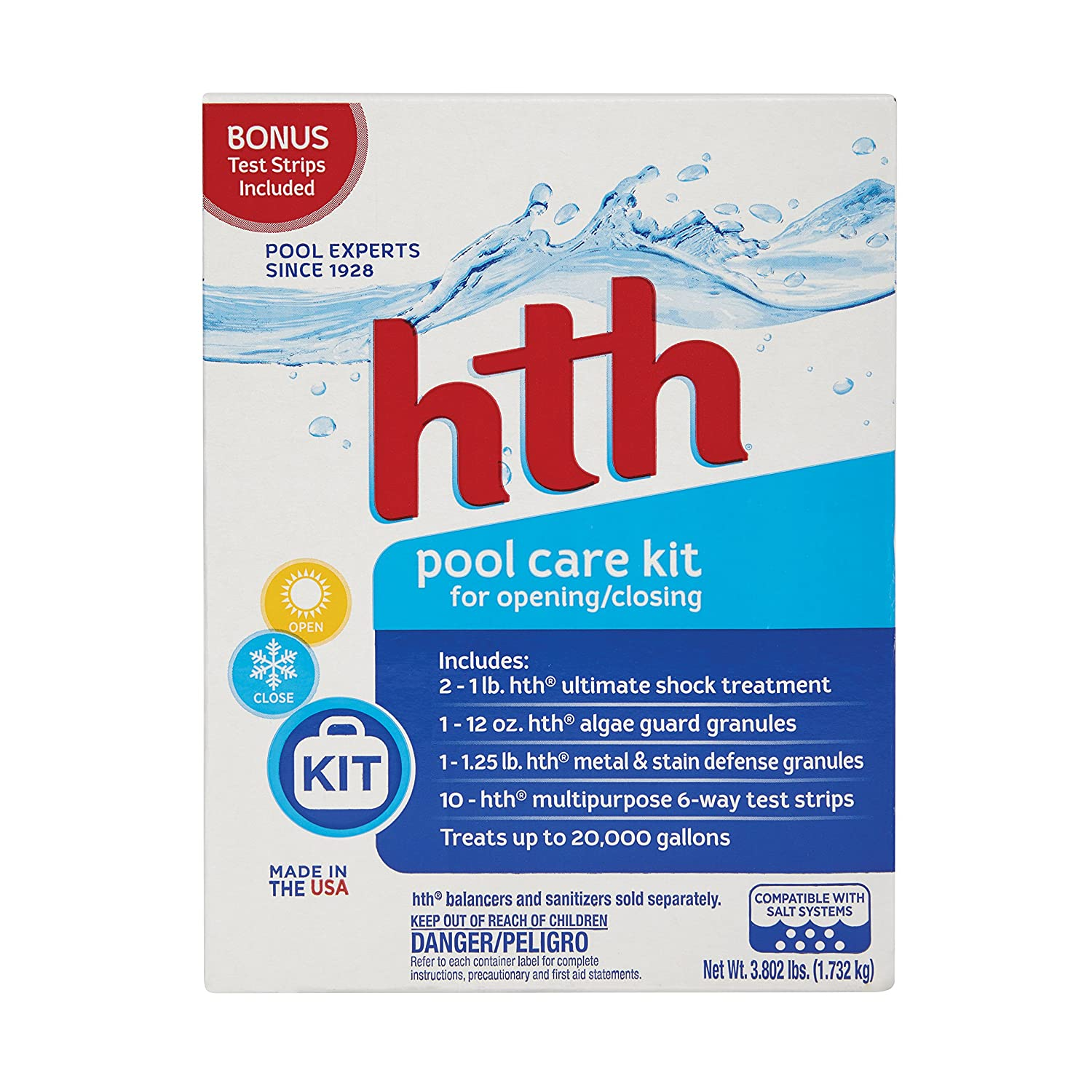 Amazon Hth Pool Care Kit All In One Pool Care Kit 91001