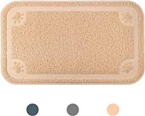 """Ptlom Pet Placemat for Dog and Cat, Mat for Prevent Food and Water Overflow, Suitable for Small Medium and Large Pet, Oversize, 24"""" 14"""""""