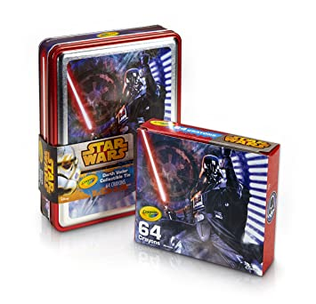 Star Wars Tin Coloring Page   Amazon Com Crayola Star Wars Darth Vader Collectible Tin Crayons
