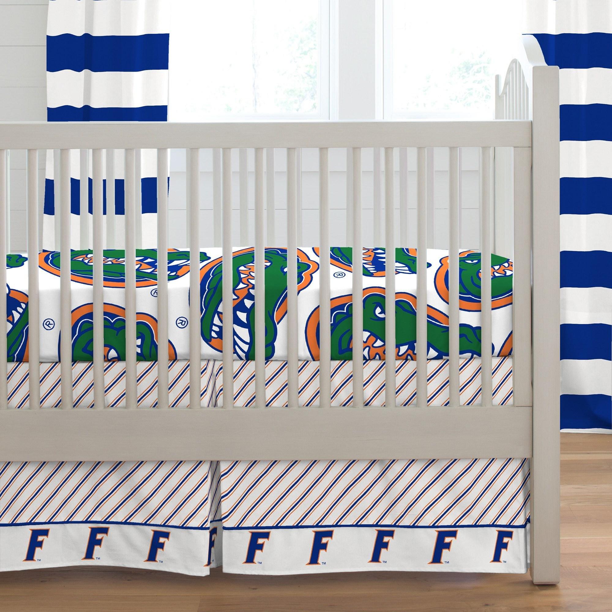 Carousel Designs Florida Crib Skirt Box Pleat 20-Inch Length
