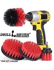 Drillbrush Juego de 4 brochas para Limpieza de taladros, para Limpieza de Azulejos, lechada, Ducha, Tina y Otros usos Generales