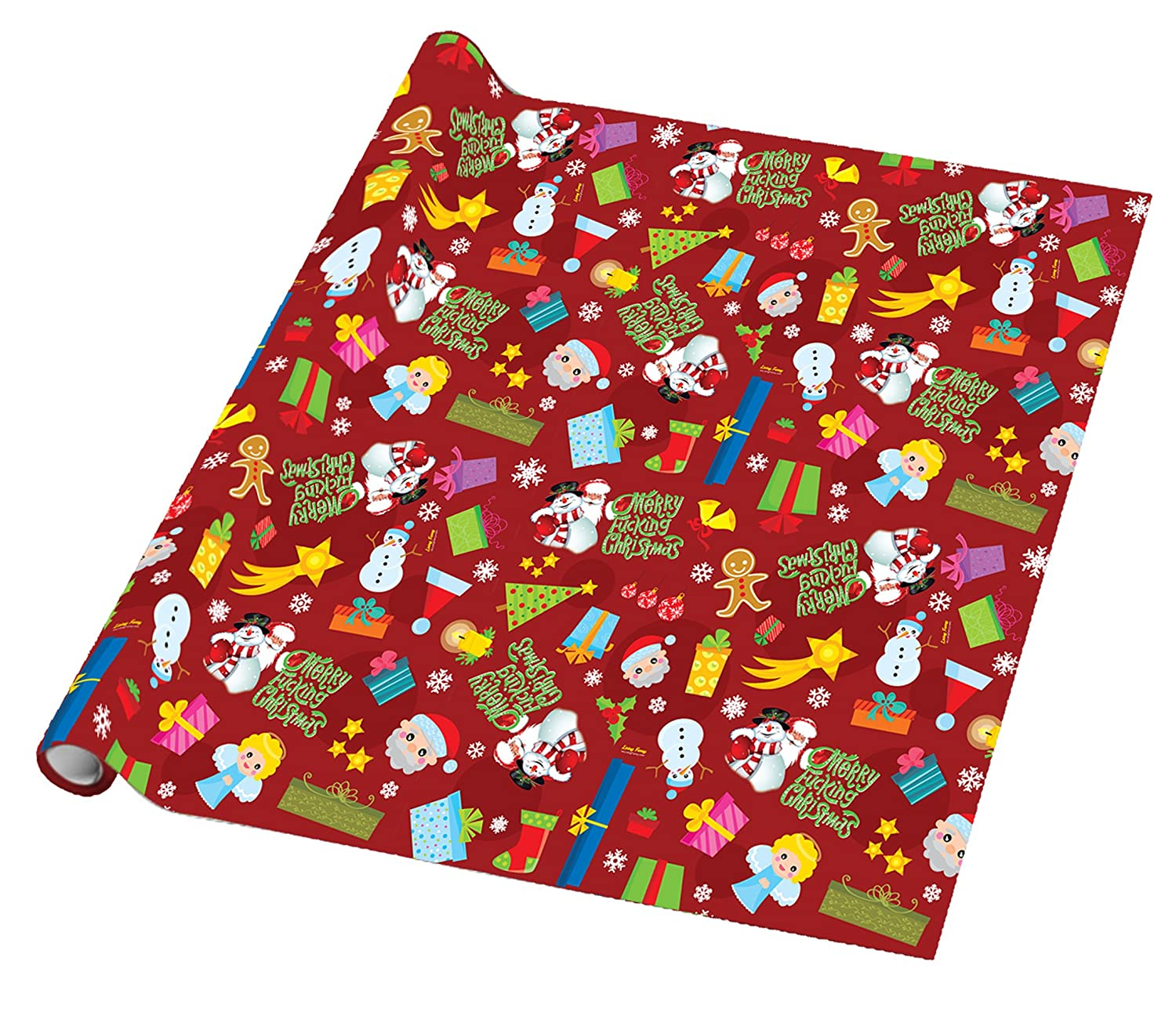 amazoncom merry fucking christmas wrapping paper arts crafts sewing - Walmart Christmas Wrapping Paper
