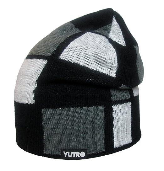 621dea387a68b YUTRO Men Women Winter Slouchy Wool Knitted Beanie Hat One Size BLACK GREY